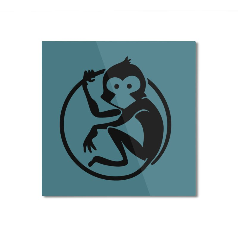 Monkey Home Mounted Aluminum Print by The m0nk3y Merchandise Store