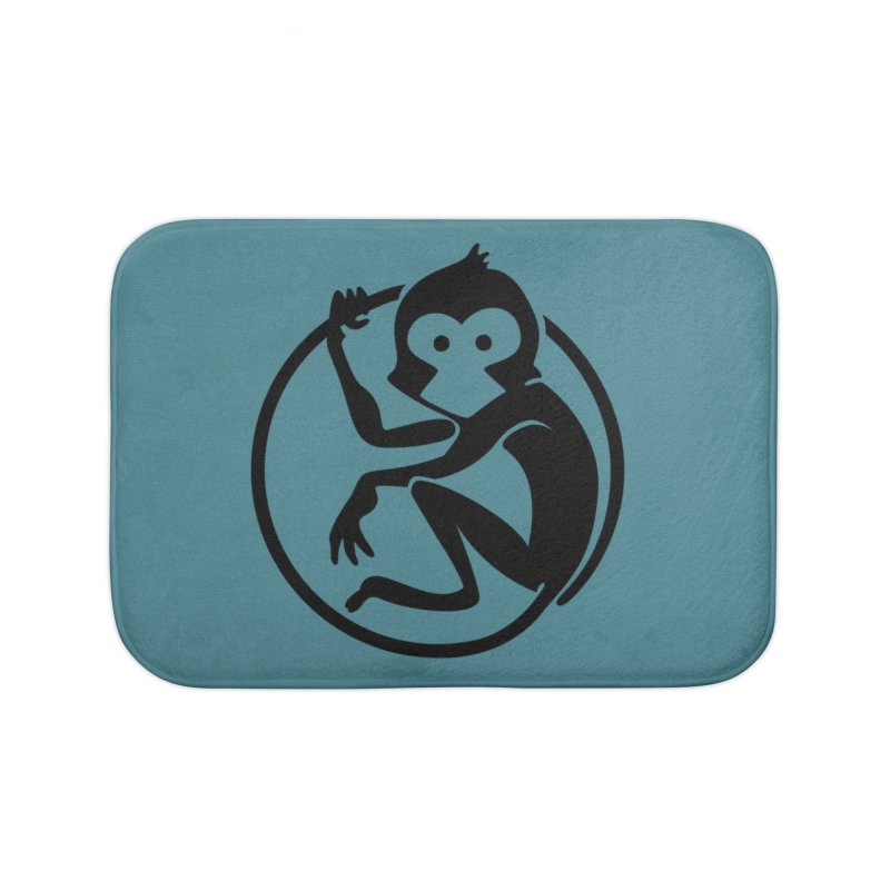 Monkey Home Bath Mat by The m0nk3y Merchandise Store
