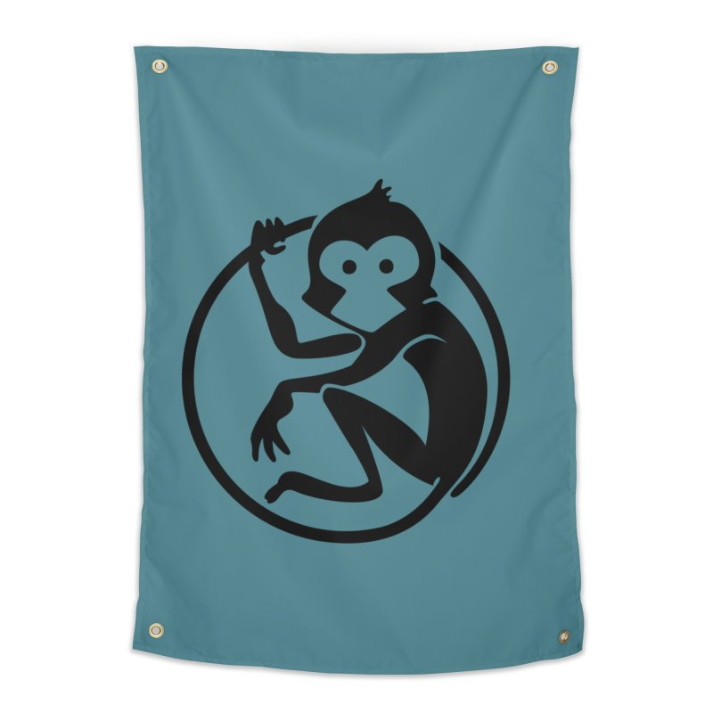 Monkey Home Tapestry by The m0nk3y Merchandise Store