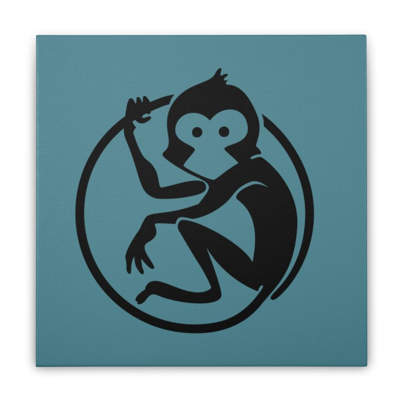 Monkey Home Stretched Canvas by The m0nk3y Merchandise Store