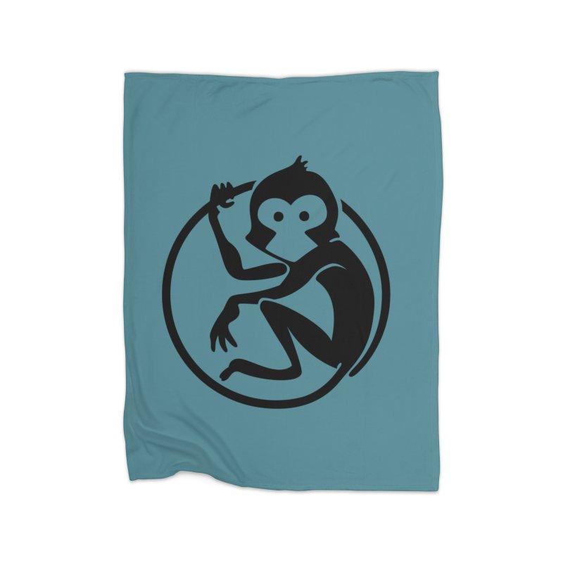 Monkey Home Fleece Blanket Blanket by The m0nk3y Merchandise Store