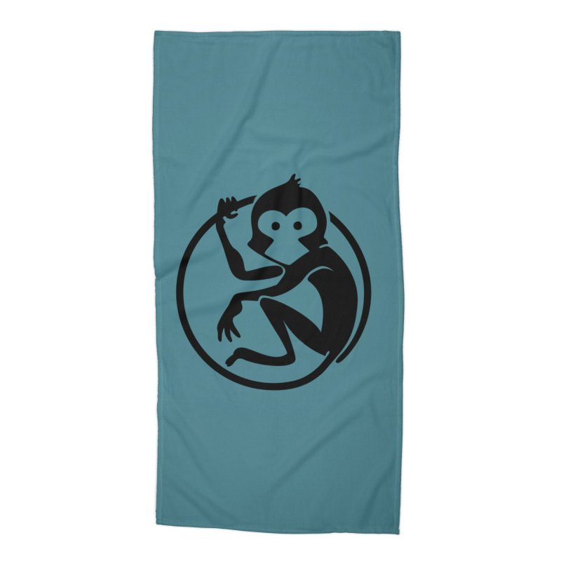 Monkey Accessories Beach Towel by The m0nk3y Merchandise Store