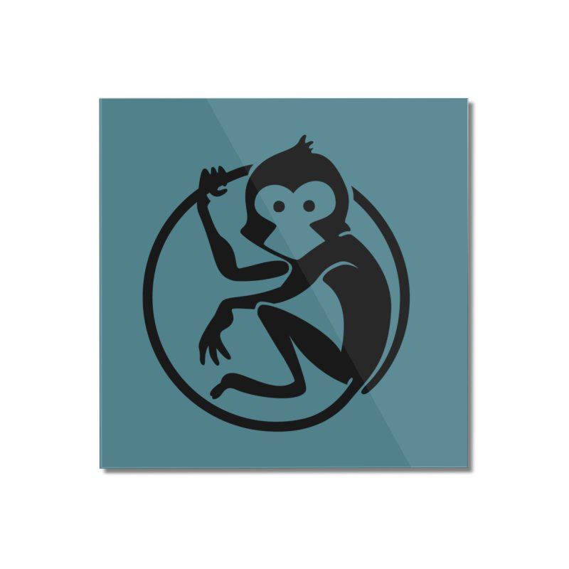 Monkey Home Mounted Acrylic Print by The m0nk3y Merchandise Store