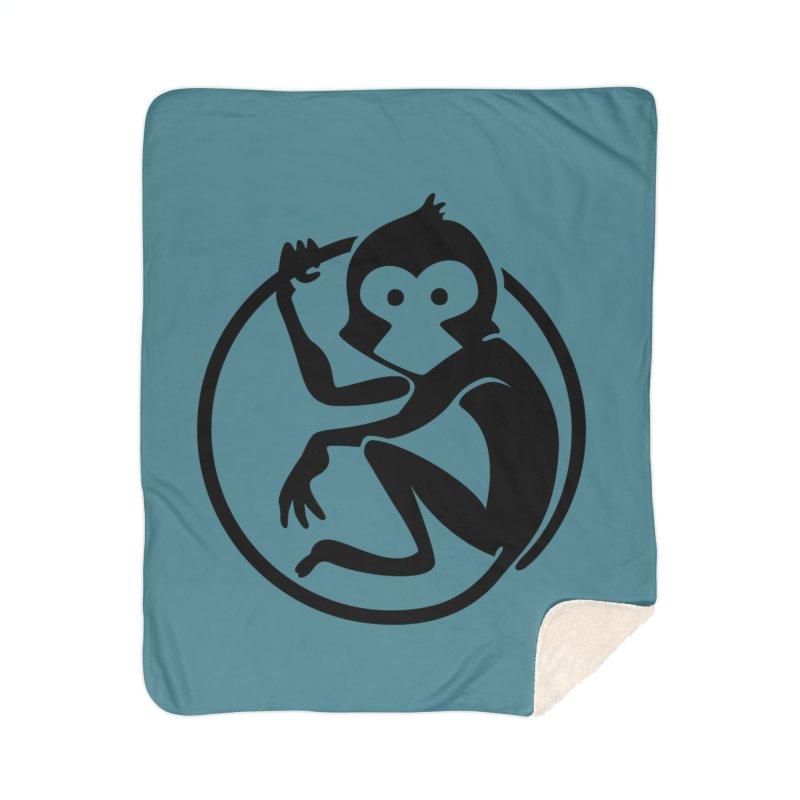 Monkey Home Sherpa Blanket Blanket by The m0nk3y Merchandise Store