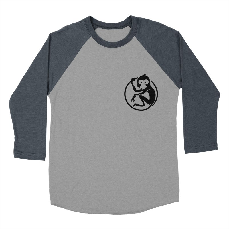 Monkey Men's Baseball Triblend Longsleeve T-Shirt by The m0nk3y Merchandise Store