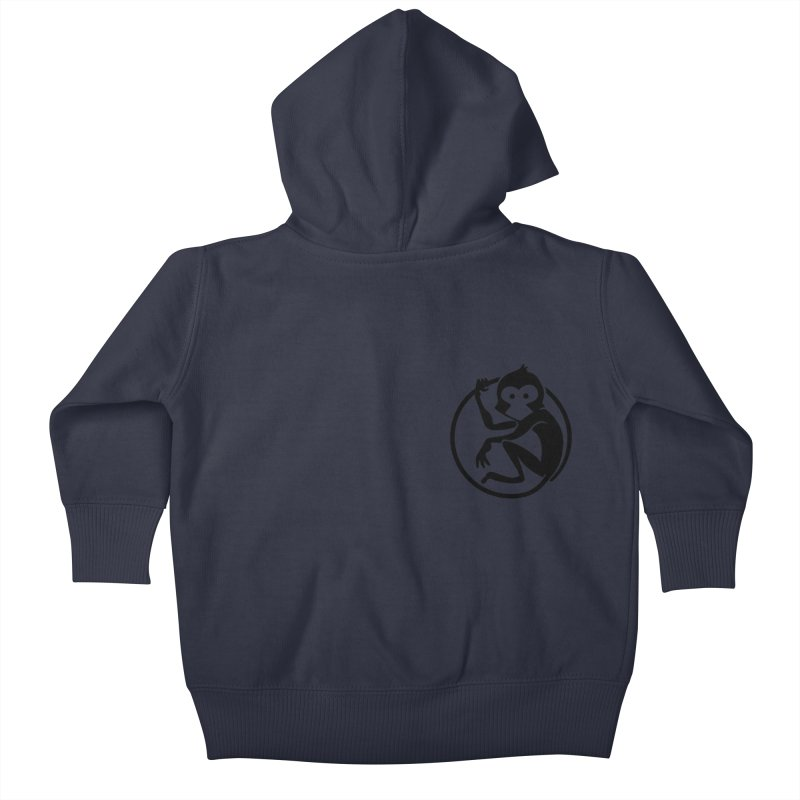 Monkey Kids Baby Zip-Up Hoody by The m0nk3y Merchandise Store