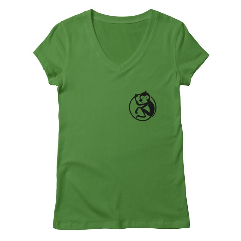 Monkey Women's Regular V-Neck by The m0nk3y Merchandise Store