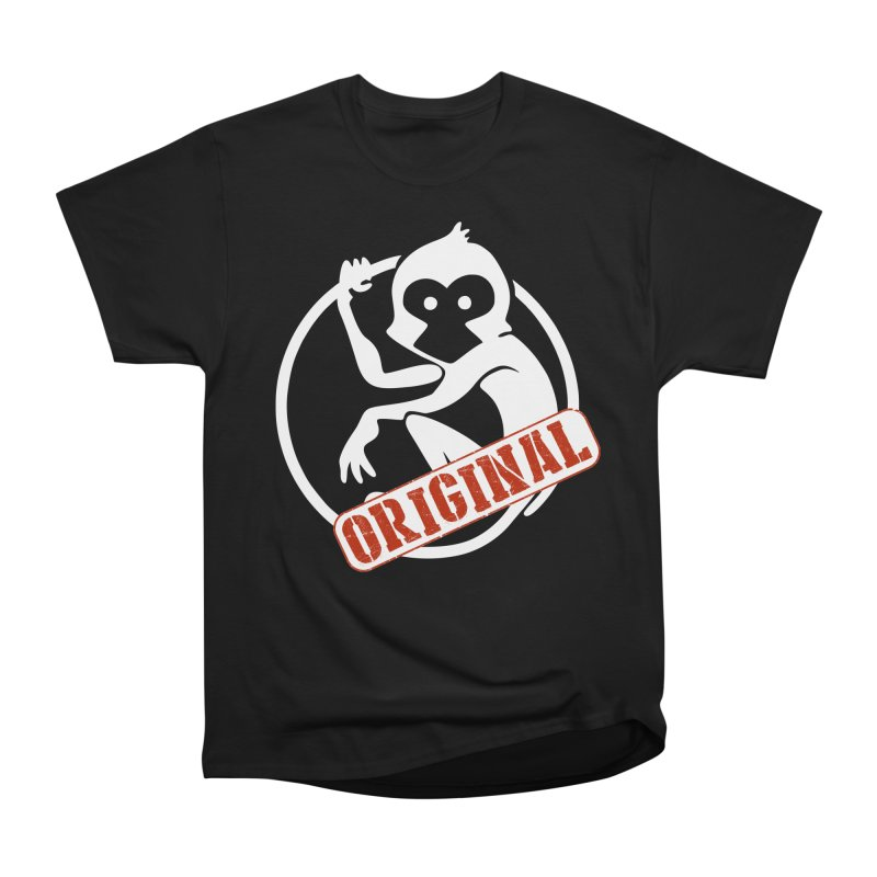 Monkey Original Large Logo Men's Heavyweight T-Shirt by The m0nk3y Merchandise Store