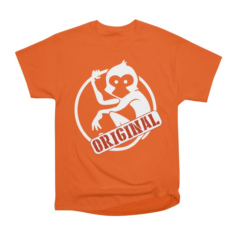 Monkey Original Large Logo Women's Heavyweight Unisex T-Shirt by The m0nk3y Merchandise Store