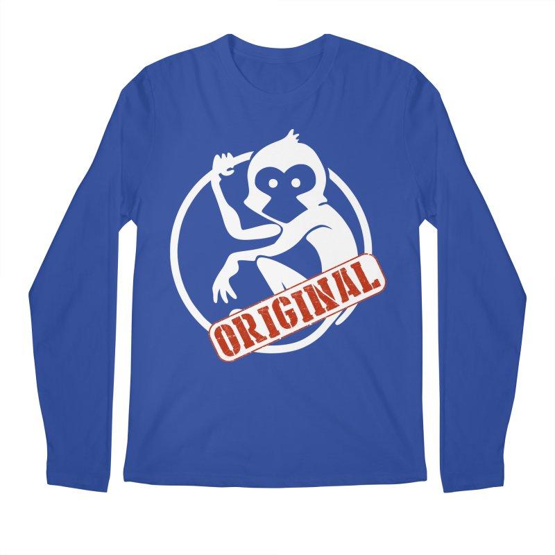 Monkey Original Large Logo Men's Regular Longsleeve T-Shirt by The m0nk3y Merchandise Store