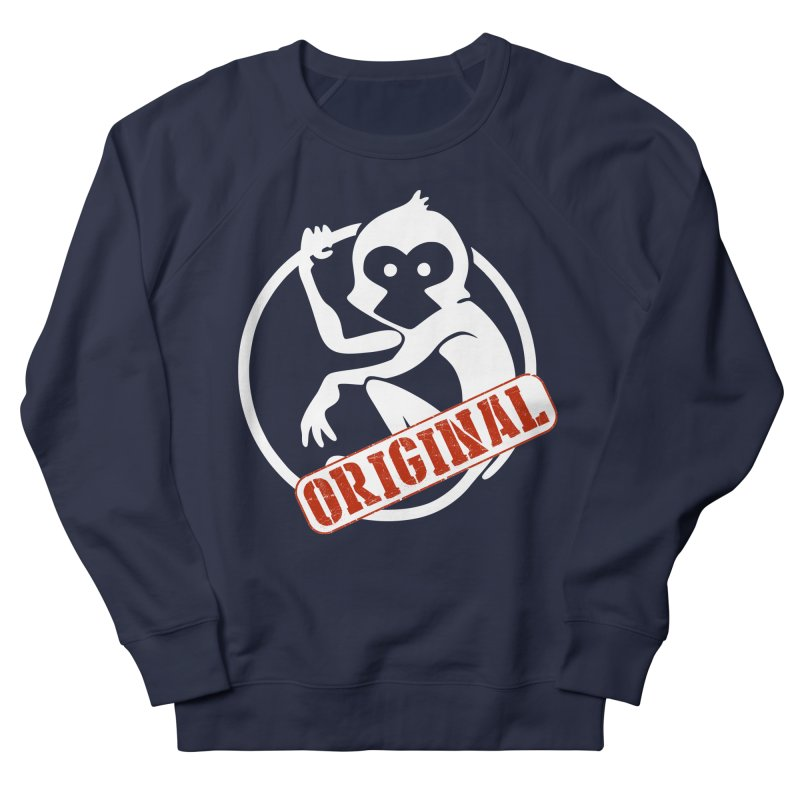 Monkey Original Large Logo Men's French Terry Sweatshirt by The m0nk3y Merchandise Store