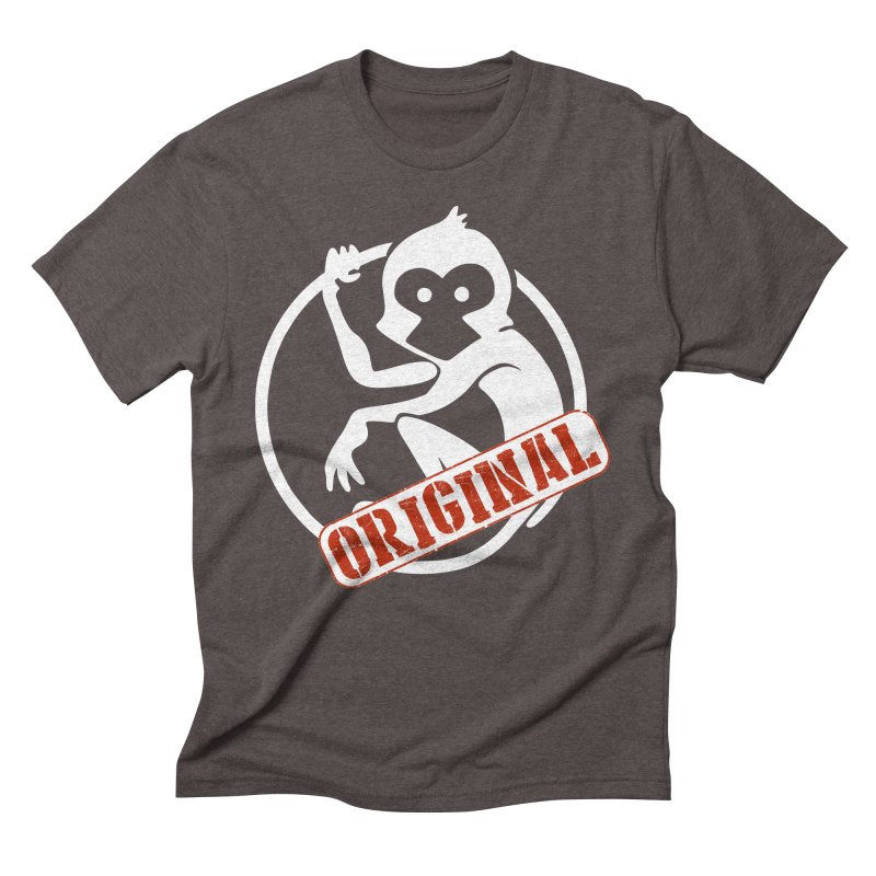 Monkey Original Large Logo Men's Triblend T-Shirt by The m0nk3y Merchandise Store