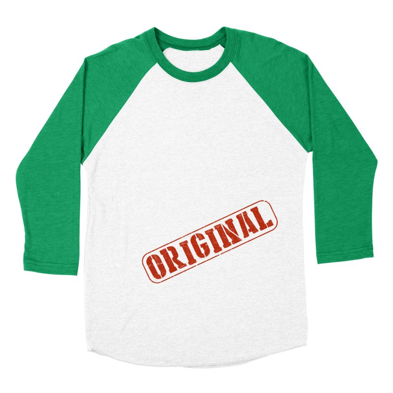 Monkey Original Large Logo Women's Baseball Triblend Longsleeve T-Shirt by The m0nk3y Merchandise Store