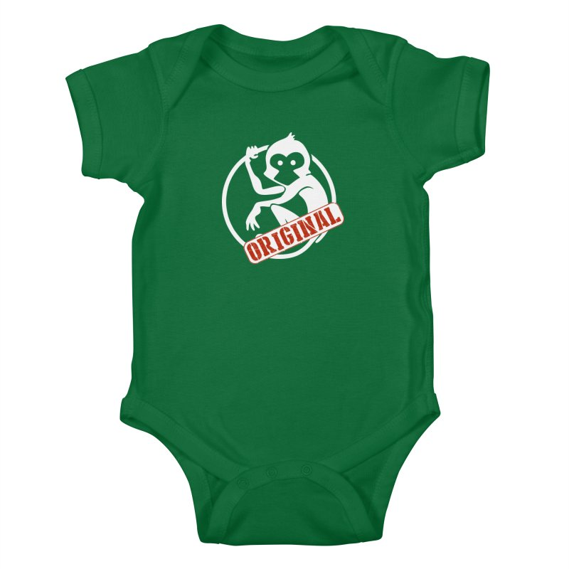 Monkey Original Large Logo Kids Baby Bodysuit by The m0nk3y Merchandise Store