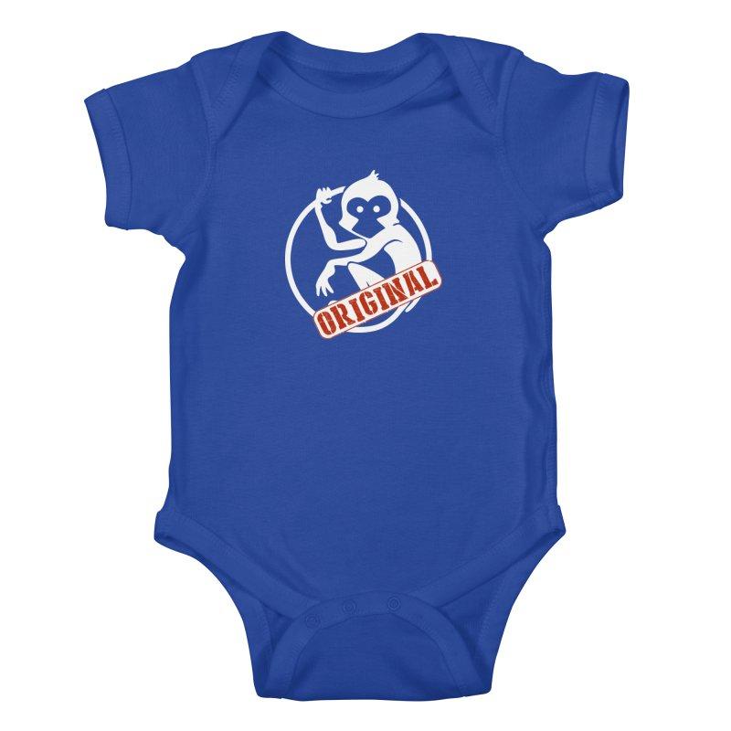 Monkey Original Large Logo Kids Baby Bodysuit by The m0nk3y Merchandise Store