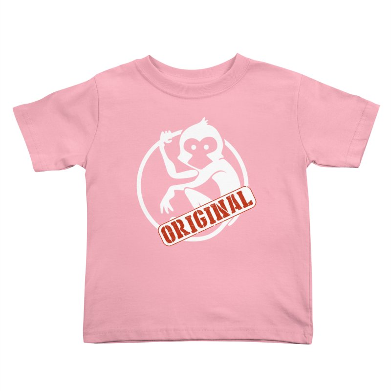 Monkey Original Large Logo Kids Toddler T-Shirt by The m0nk3y Merchandise Store