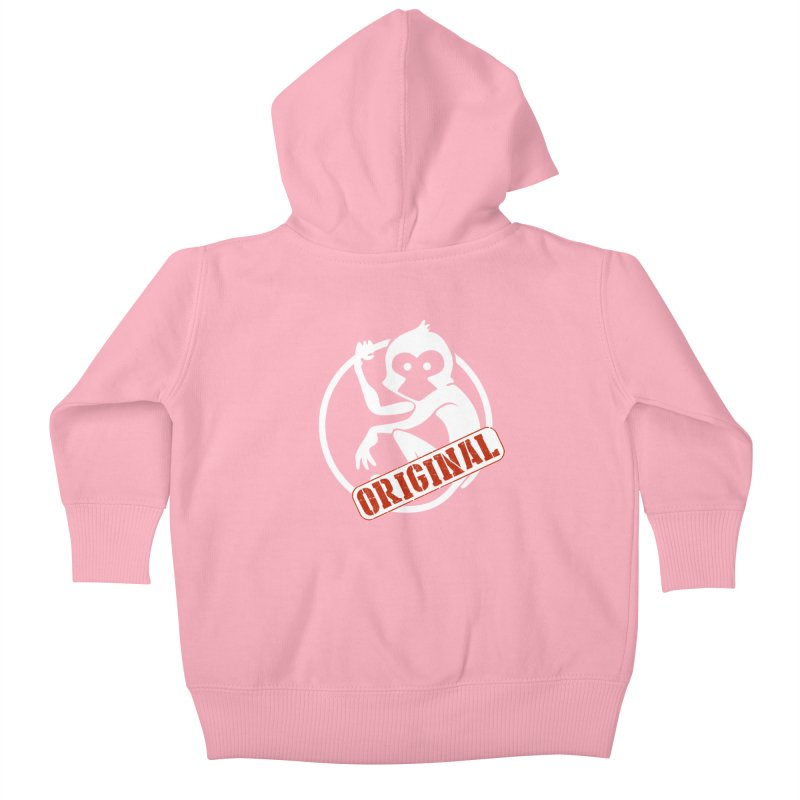 Monkey Original Large Logo Kids Baby Zip-Up Hoody by The m0nk3y Merchandise Store