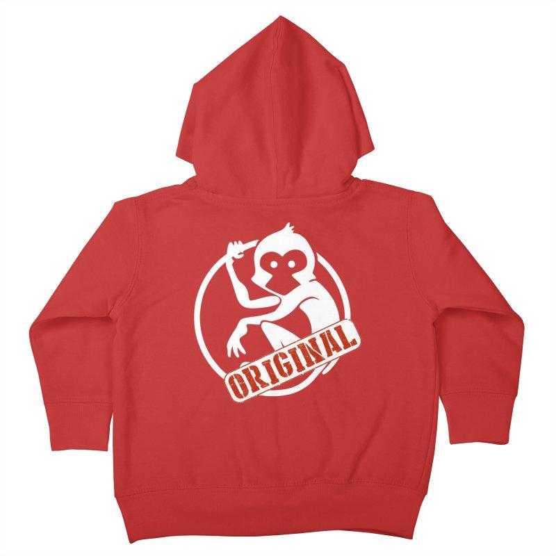 Monkey Original Large Logo Kids Toddler Zip-Up Hoody by The m0nk3y Merchandise Store