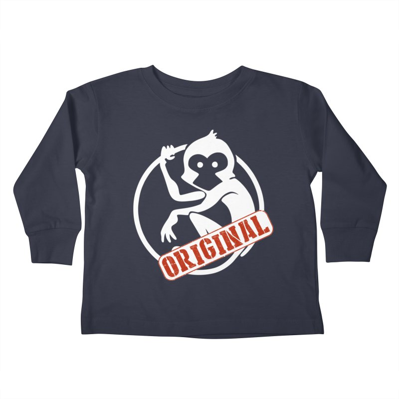 Monkey Original Large Logo Kids Toddler Longsleeve T-Shirt by The m0nk3y Merchandise Store