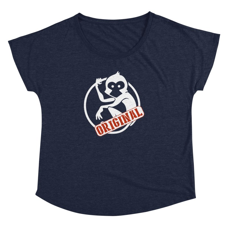 Monkey Original Large Logo Women's Dolman Scoop Neck by The m0nk3y Merchandise Store
