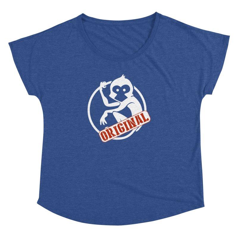 Monkey Original Large Logo Women's Dolman Scoop Neck by The m0nk3y Merchandise Store
