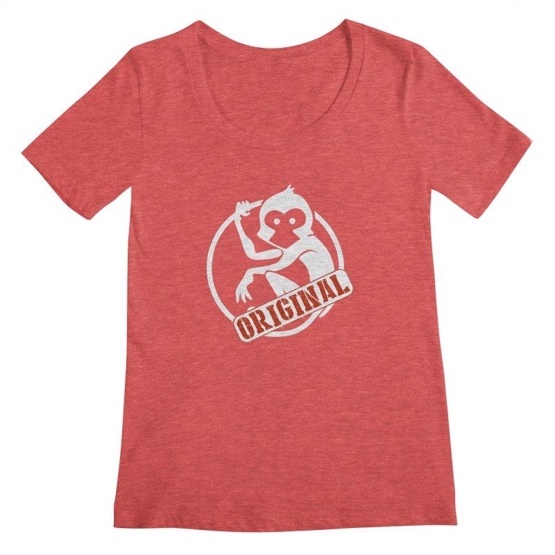 Monkey Original Large Logo Women's Scoop Neck by The m0nk3y Merchandise Store