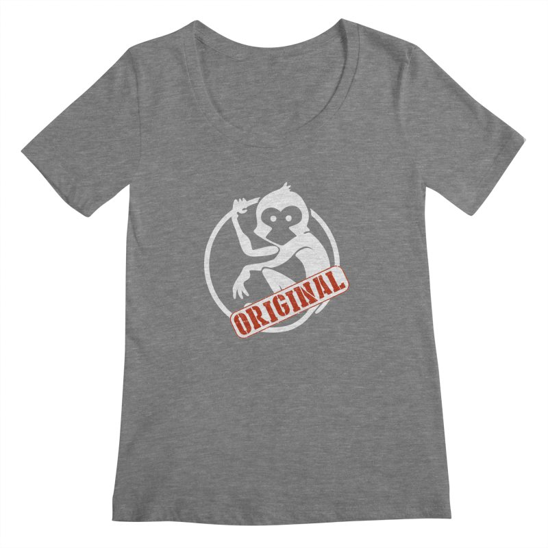 Monkey Original Large Logo Women's Regular Scoop Neck by The m0nk3y Merchandise Store