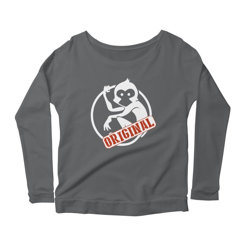 Monkey Original Large Logo Women's Longsleeve T-Shirt by The m0nk3y Merchandise Store