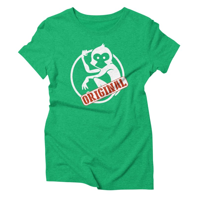 Monkey Original Large Logo Women's Triblend T-Shirt by The m0nk3y Merchandise Store