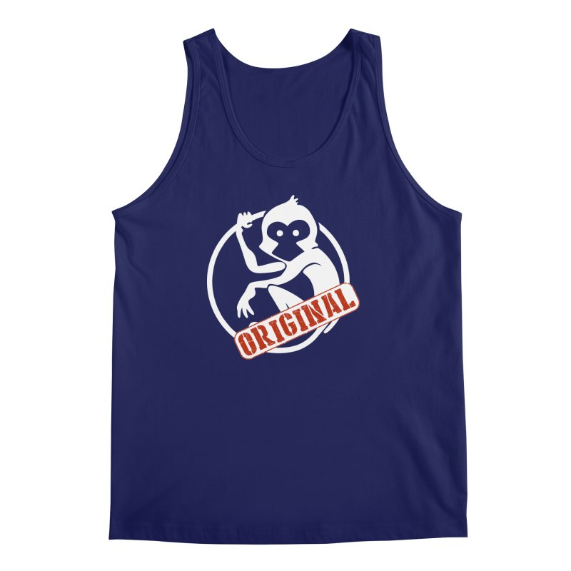 Monkey Original Large Logo Men's Regular Tank by The m0nk3y Merchandise Store