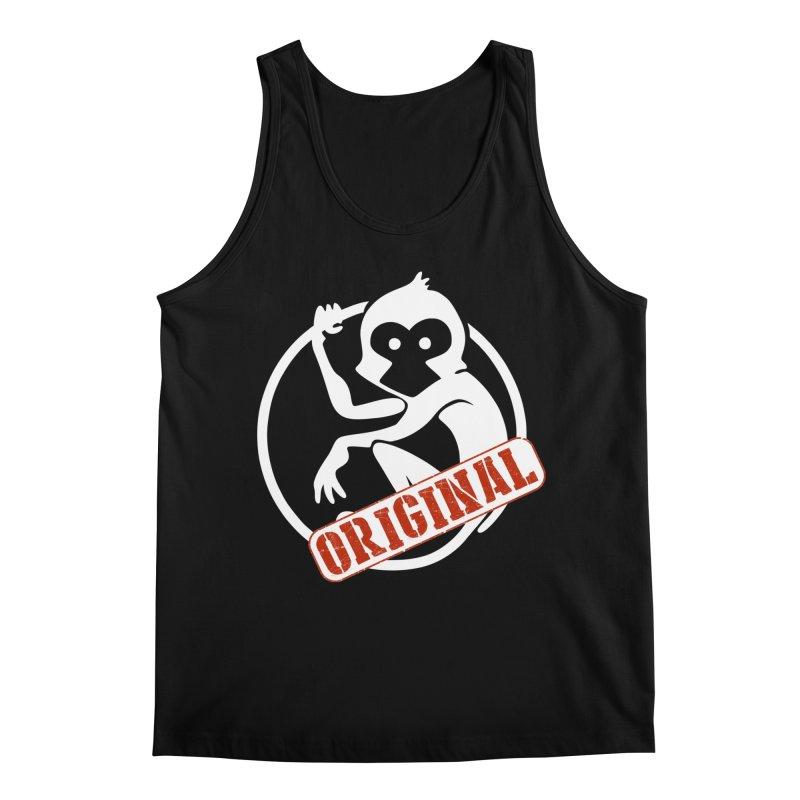 Monkey Original Large Logo Men's Regular Tank by The m0nk3y Merchandise Store