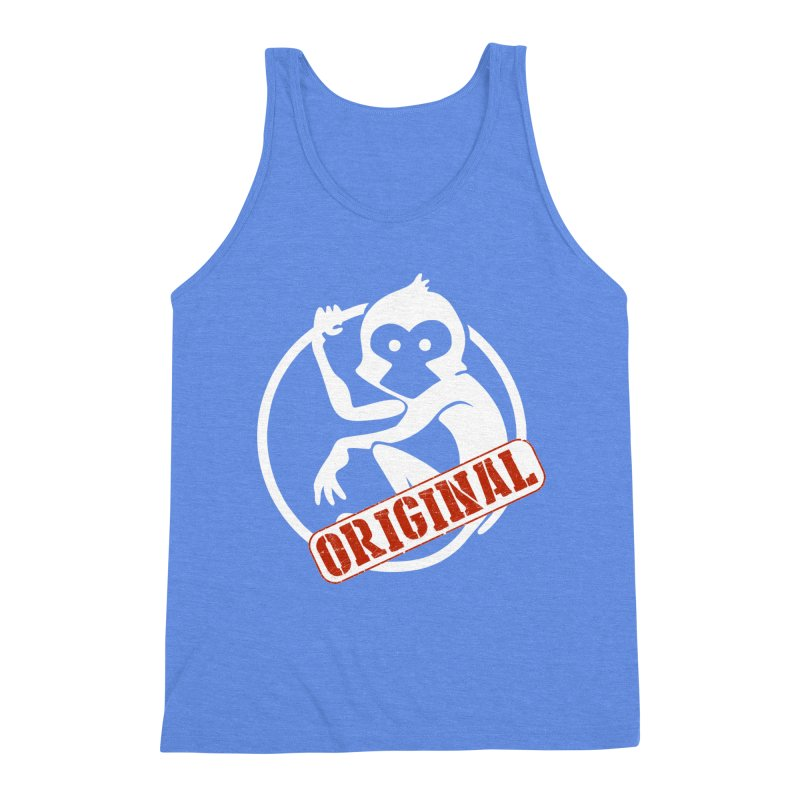 Monkey Original Large Logo Men's Triblend Tank by The m0nk3y Merchandise Store