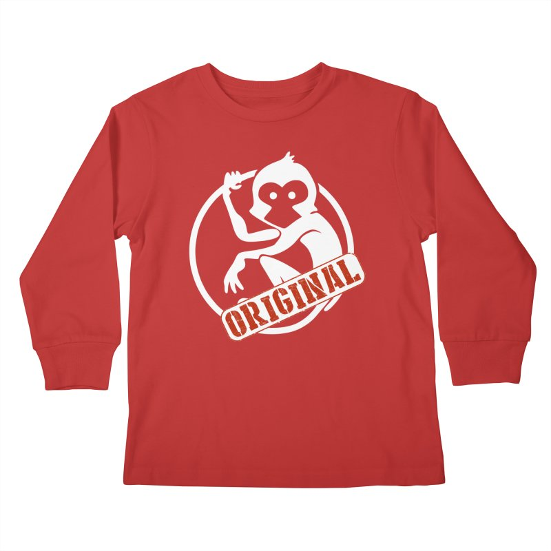 Monkey Original Large Logo Kids Longsleeve T-Shirt by The m0nk3y Merchandise Store