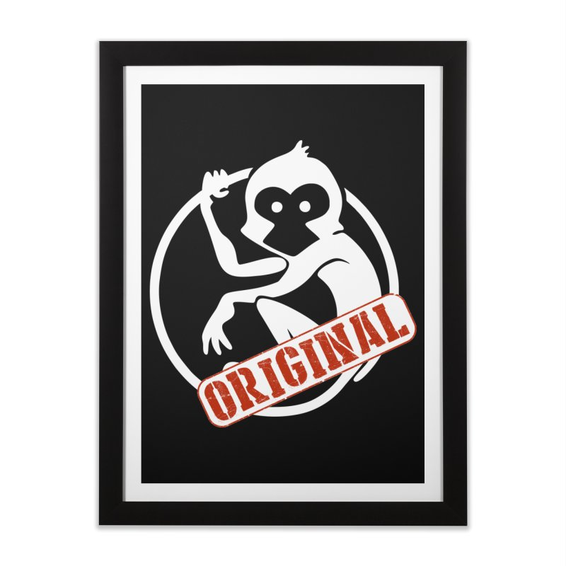 Monkey Original Large Logo Home Framed Fine Art Print by The m0nk3y Merchandise Store