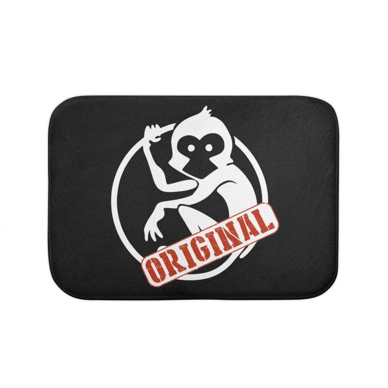 Monkey Original Large Logo Home Bath Mat by The m0nk3y Merchandise Store