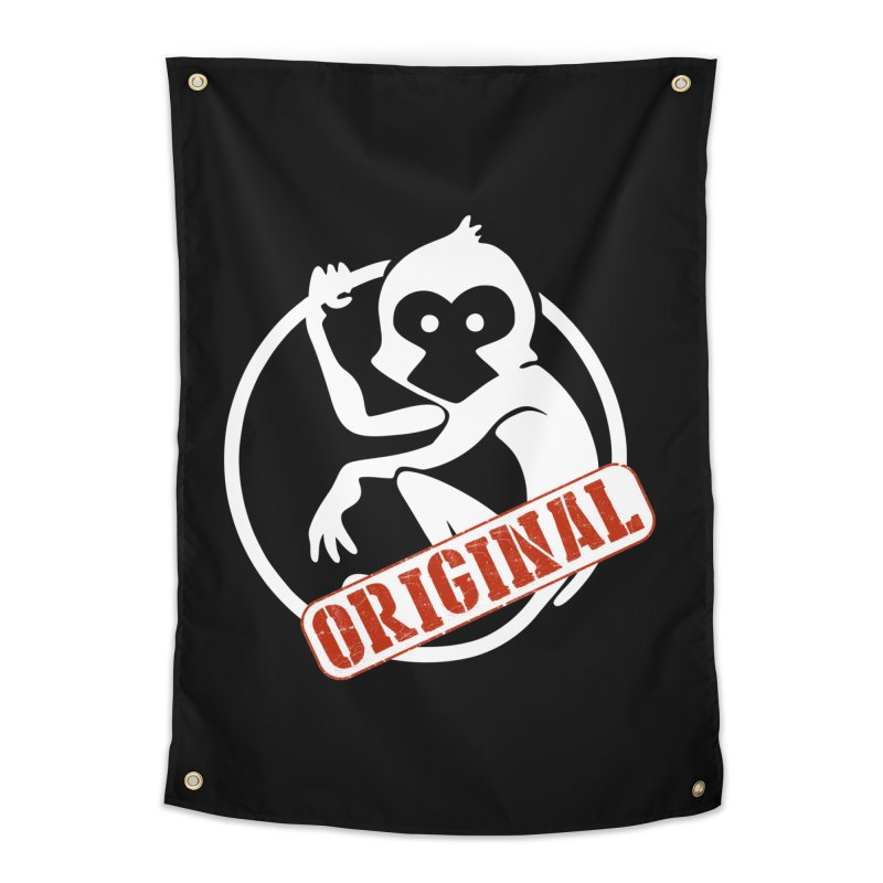 Monkey Original Large Logo Home Tapestry by The m0nk3y Merchandise Store