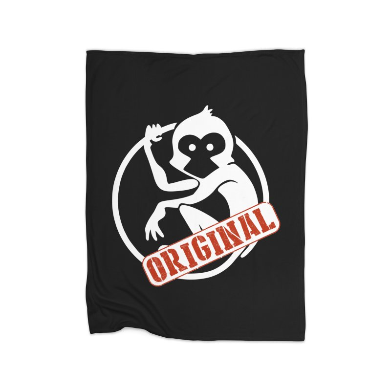 Monkey Original Large Logo Home Fleece Blanket Blanket by The m0nk3y Merchandise Store