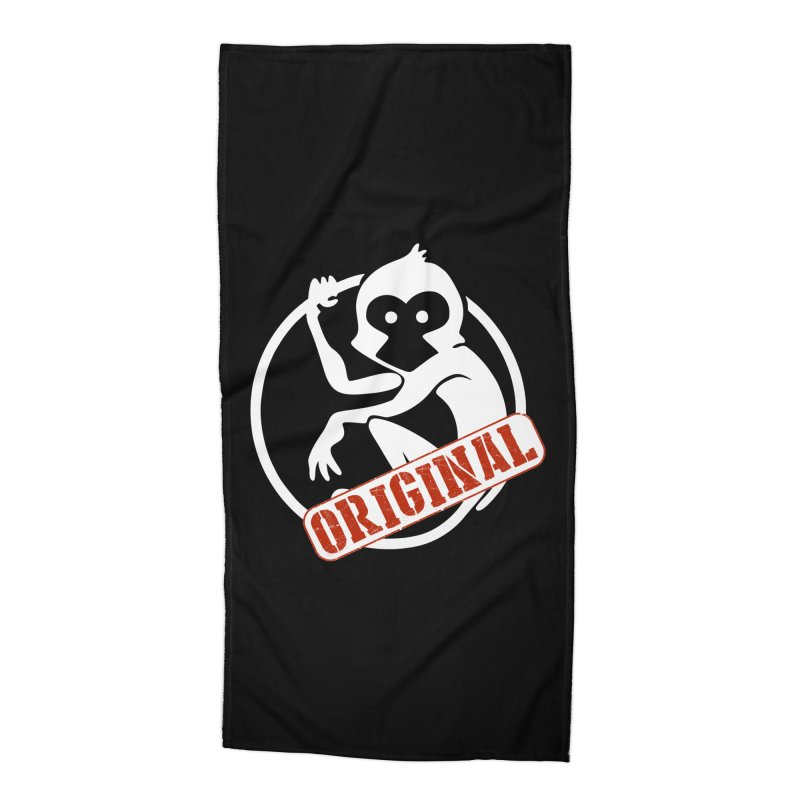 Monkey Original Large Logo Accessories Beach Towel by The m0nk3y Merchandise Store