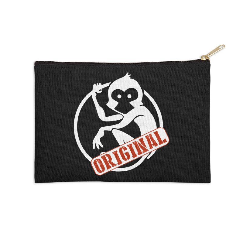 Monkey Original Large Logo Accessories Zip Pouch by The m0nk3y Merchandise Store