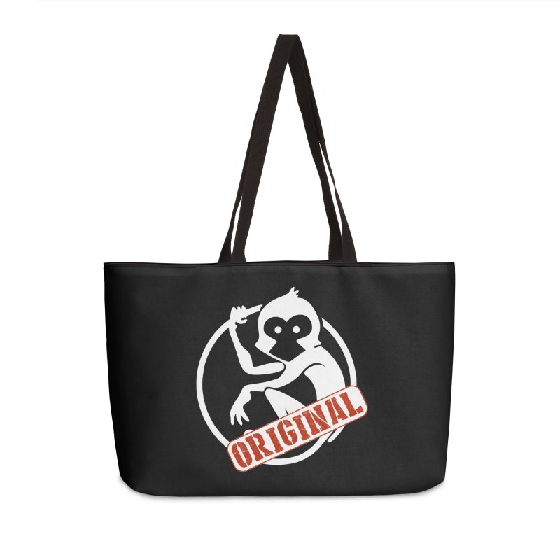 Monkey Original Large Logo Accessories Weekender Bag Bag by The m0nk3y Merchandise Store