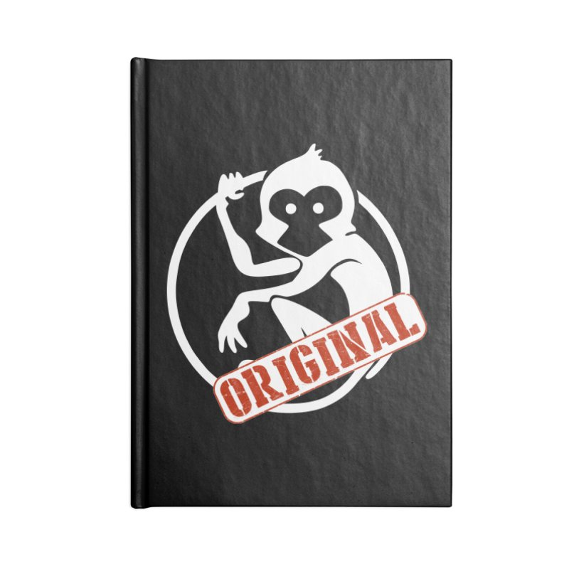 Monkey Original Large Logo Accessories Lined Journal Notebook by The m0nk3y Merchandise Store