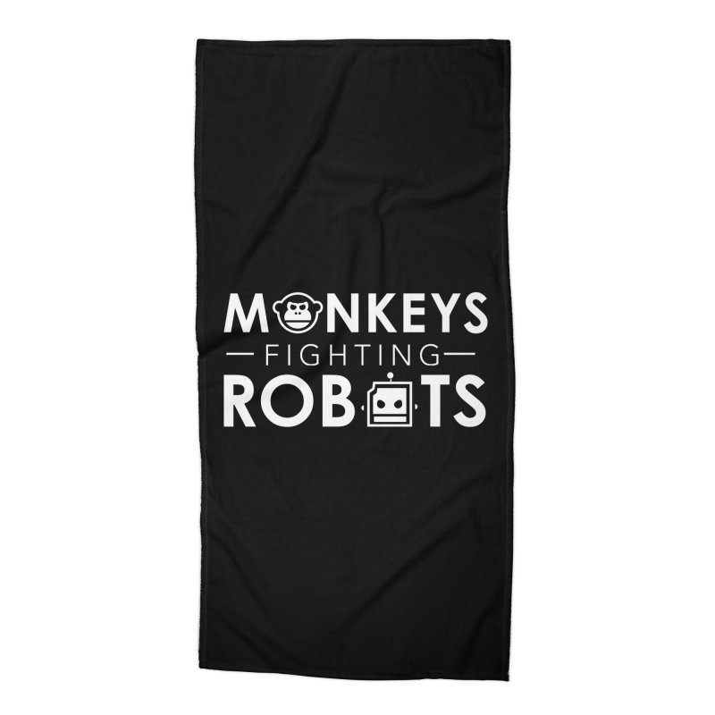Monkeys Fighting Robots Official  Accessories Beach Towel by Monkeys Fighting Robots' Artist Shop