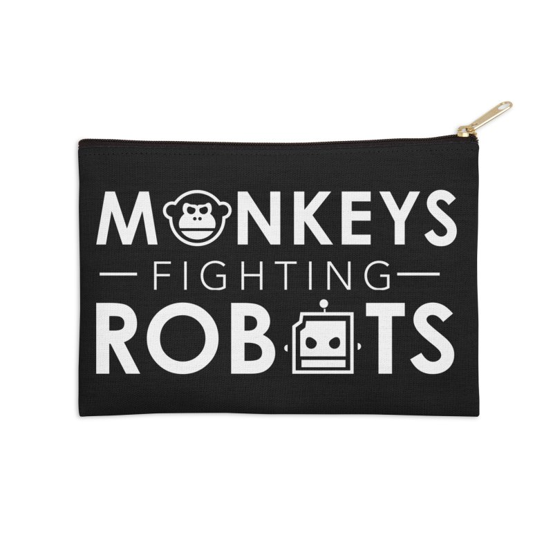 Monkeys Fighting Robots Official  Accessories Zip Pouch by Monkeys Fighting Robots' Artist Shop