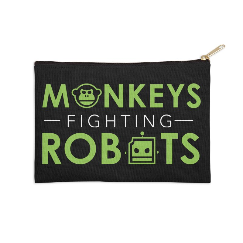 Monkeys Fighting Robots Original  Accessories Zip Pouch by Monkeys Fighting Robots' Artist Shop