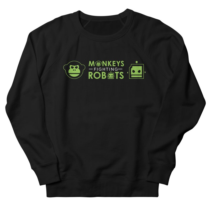 Monkeys v Robots  Women's Sweatshirt by Monkeys Fighting Robots' Artist Shop