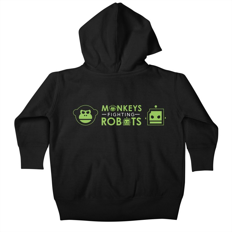 Monkeys v Robots  Kids Baby Zip-Up Hoody by Monkeys Fighting Robots' Artist Shop