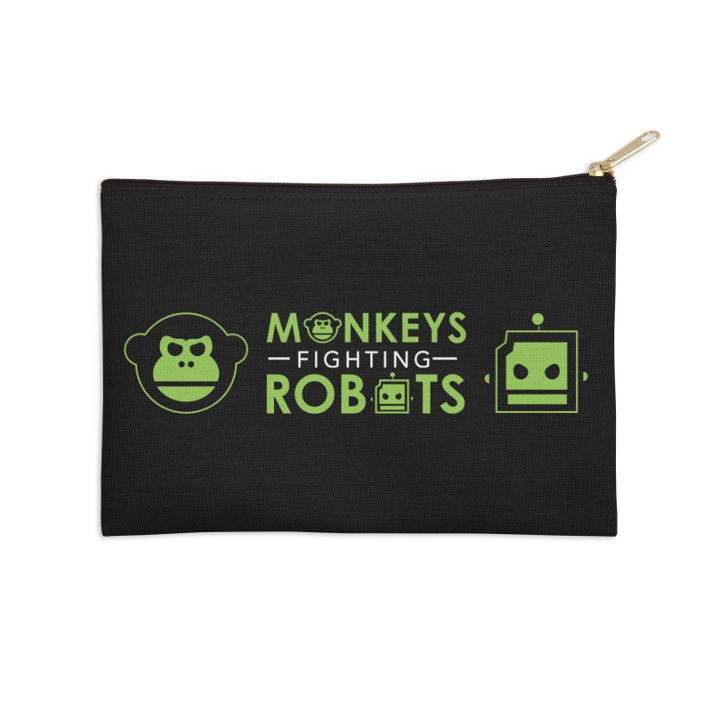 Monkeys v Robots  Accessories Zip Pouch by Monkeys Fighting Robots' Artist Shop