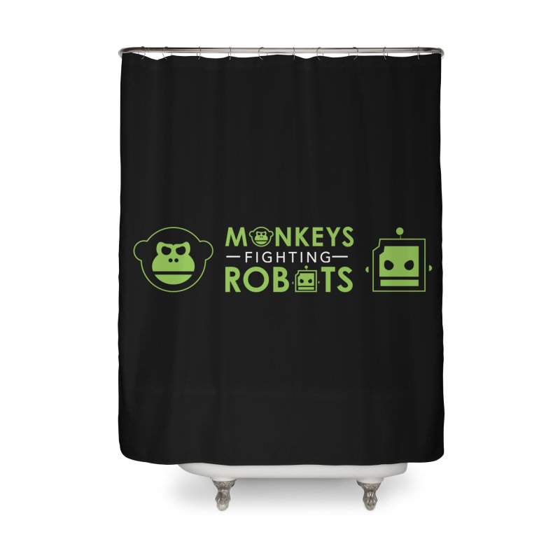 Monkeys v Robots  Home Shower Curtain by Monkeys Fighting Robots' Artist Shop