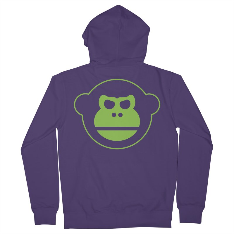 Team Monkey Women's French Terry Zip-Up Hoody by Monkeys Fighting Robots' Artist Shop