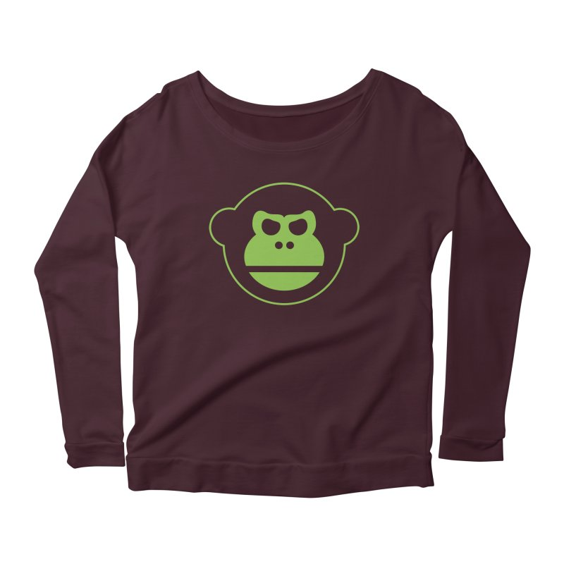 Team Monkey Women's Longsleeve Scoopneck  by Monkeys Fighting Robots' Artist Shop
